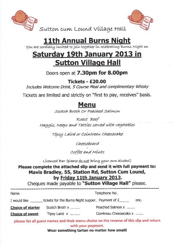 Burns Night - 19 January 2013