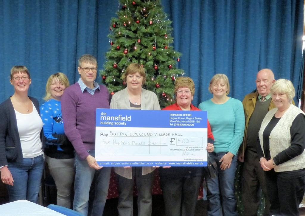 Mansfield Building Society Donation - November 2015