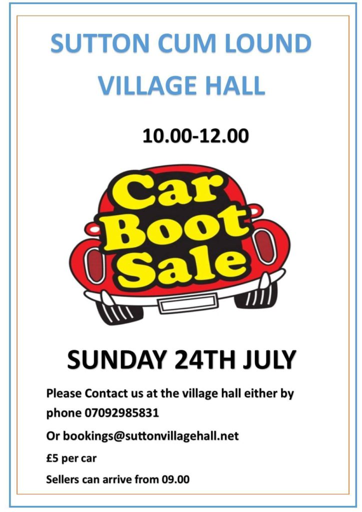 Car Boot Sale - 24 July 2016