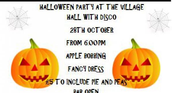 Halloween Party – Saturday 28 October 2017