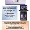 Computer Club – Monday 14 November 2016