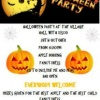 Halloween Party – Saturday 28 October 2017