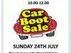 Car Boot Sale – 24 July 2016